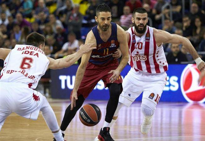 Diretta Stella Rossa-Barcellona: qui lo spagnolo Juan Carlos Navarro, 37 anni, playmaker del Barça (LAPRESSE)