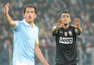 Un'immagine della partita di campionato Juventus-Lazio (Infophoto)