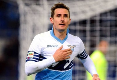 Miroslav Klose, 36 anni, tedesco: sale a quota 11 in classifica marcatori (INFOPHOTO)