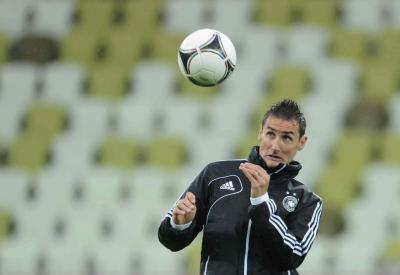 Miroslav Klose, per lui ieri una doppietta (Infophoto)