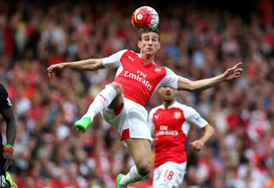 Il difensore francese dell'Arsenal Laurent Koscielny, 30 anni, ha deciso il match con il Newcastle (INFOPHOTO)