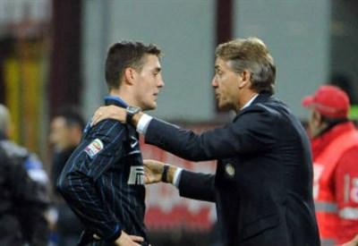 Mateo Kovacic con Roberto Mancini (Infophoto)