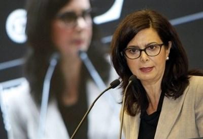 Laura Boldrini, presidente della Camera (Infophoto)