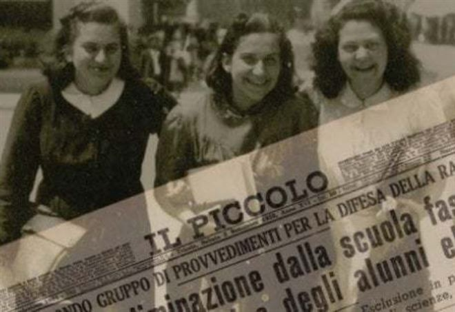 Leggi razziali a Trieste, la locandina della