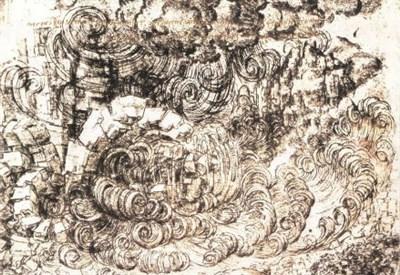 Leonardo da Vinci, Diluvio, 1515 ca.