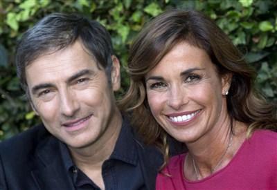 Marco Liorni e Cristina Parodi