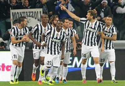 L'esultanza della Juventus (Infophoto)
