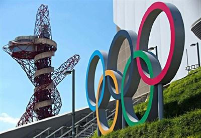 I cerchi olimpici a Londra (Infophoto)