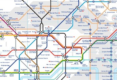Pianta della Metro di Londra (Immagine dal web)