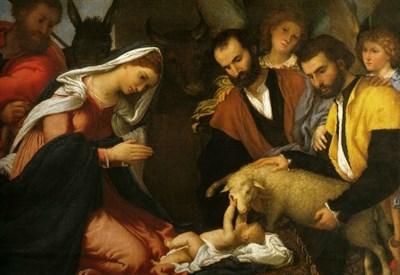 Lorenzo Lotto, Adorazione dei pastori (1534) (Immagine dal web)