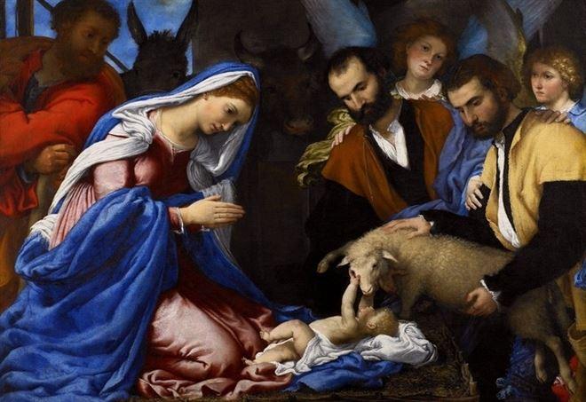 Lorenzo Lotto, Adorazione dei pastori (1530)