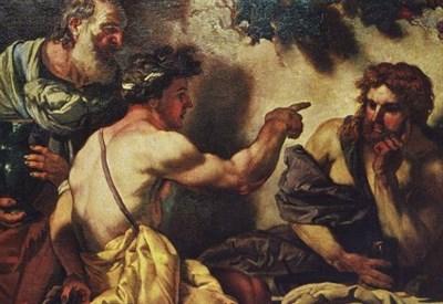 J.C. Loth, Giove e Mercurio ospitati da Filemone e Bauci (1659, particolare) (Immagine da Wikipedia)