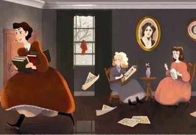Louisa May Alcott (Doodle di Google)