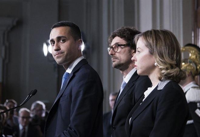 Luigi Di Maio dopo il colloquio con Mattarella, la settimana scorsa (LaPresse)
