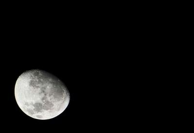 La Luna vista dalla Terra (Infophoto)