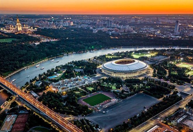 Lo stadio Luzniki (da Facebook Russia 2018)
