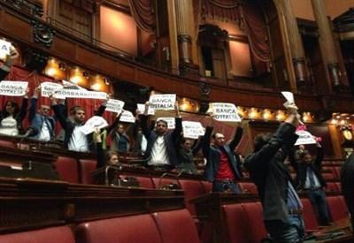 La protesta del Movimento 5 Stelle