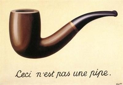René Magritte, Questa non è una pipa (1948) (Immagine d'archivio)