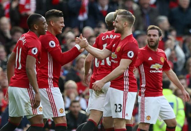 La formazione del Manchester United (LaPresse)