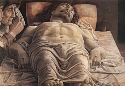 Andrea Mantegna, Cristo morto (particolare) (1480)