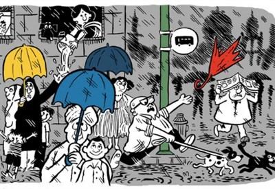 scorcio di Doodle per il 90esimo anniversario di Mario Miranda