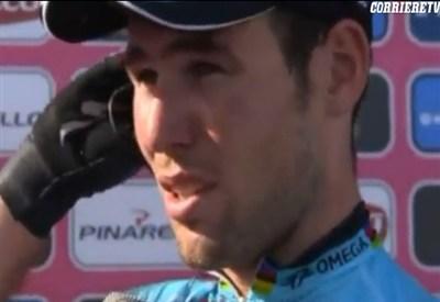 Mark Cavendish, prima maglia rosa al Giro d'Italia