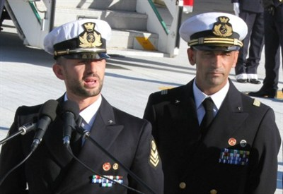 Massimiliano Latorre e Salvatore Girone (Infophoto)