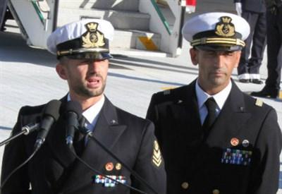Salvatore Girone e Massimiliano Latorre (Infophoto)