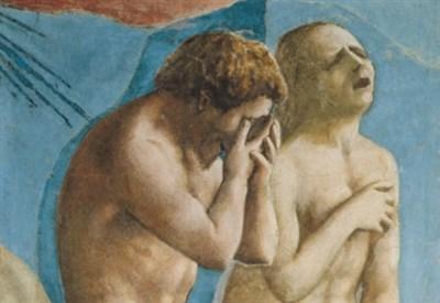 Masaccio, La cacciata dei progenitori dall'Eden, particolare (1425) (Immagine dal web)