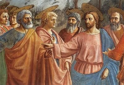 Masaccio, Pagamento del tributo (1425 circa) (Immagine d'archivio)