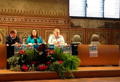 Paolo Massobrio alla Festa della Famiglia, a Piacenza