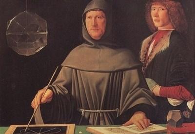 Ritratto di Luca Pacioli (1495) attribuito a Jacopo de' Barbari (Immagine d'archivio)
