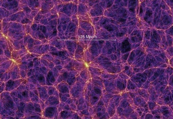 """Filamenti di materia oscura in cui """"galleggia"""" la materia ordinaria"""
