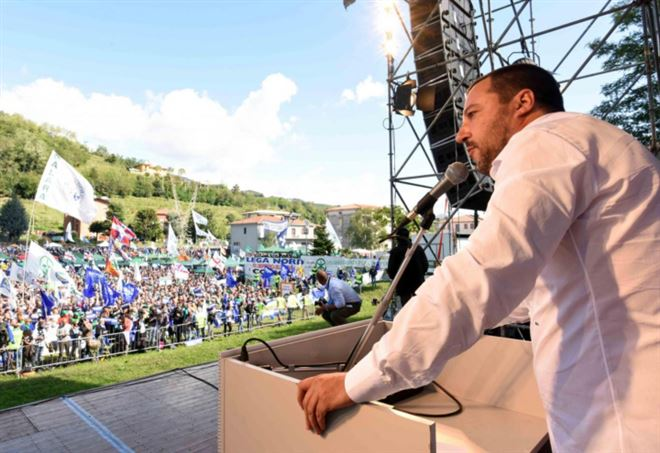 Sondaggi Politici 2018, Lega di Matteo Salvini (LaPresse)