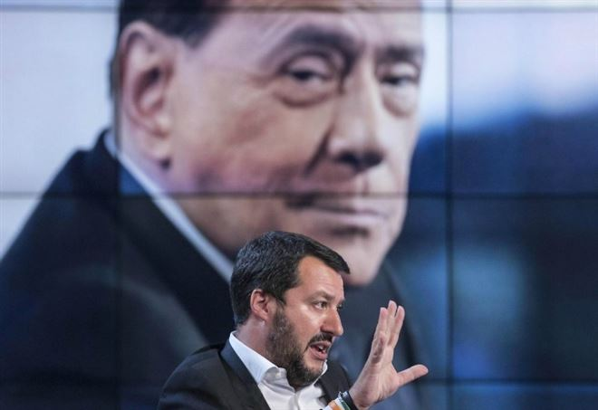 Sondaggi Politici, Matteo Salvini e Silvio Berlusconi (LaPresse)