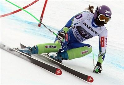 Tina Maze in azione (Infophoto)