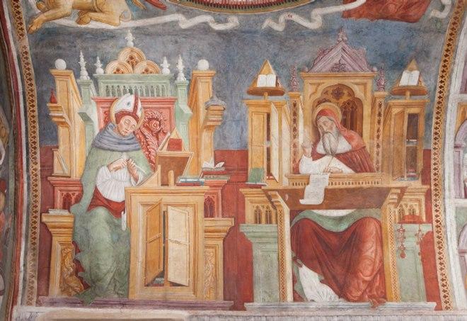 Ignoto, affresco nella volta della Chiesa di Chiuso (Lecco), XII sec.