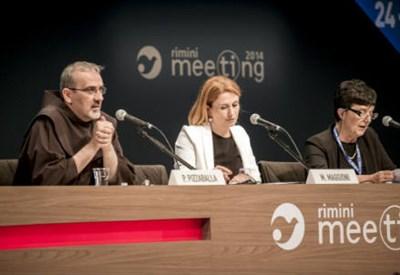 L'incontro al Meeting di Rimini 2014 (InfoPhoto)