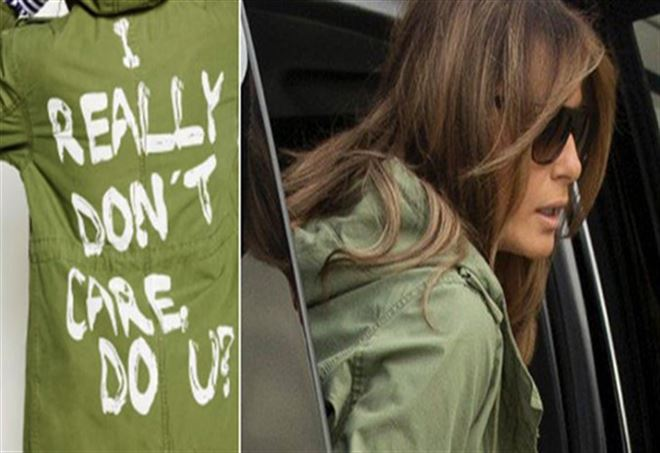 Melania Trump e la giacca di Zara