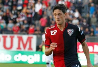 L'attaccante del Cagliari Federico Melchiorri, 29 anni: per lui 5 gol in questo campionato (INFOPHOTO)