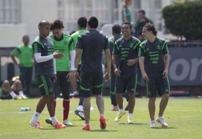 Il Messico in allenamento (INFOPHOTO)