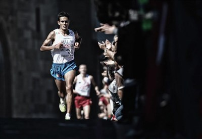 Daniele Meucci in azione (da Facebook European Athletics)