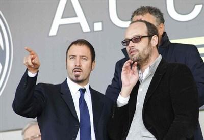 Sulla destra Massimo Mezzaroma, presidente del Siena (Infophoto)