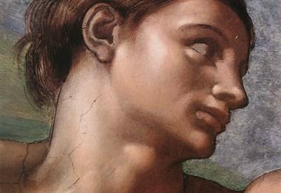 Michelangelo, Adamo (Giudizio Universale, 1535-41)