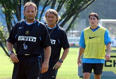 Sinisa Mihajlovic e Roberto Mancini ai tempi dell'Inter (Infophoto)