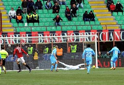 Un precedente di Milan-Napoli (Infophoto)