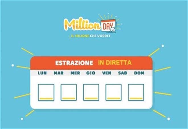 Estrazione MillionDAY di oggi