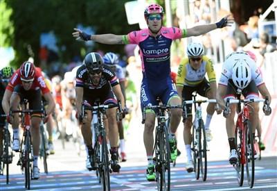 Sacha Modolo vittorioso a Lugano (da Facebook Giro d'Italia)