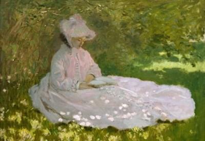 Claude Monet, Tempo di primavera (particolare) (1872)