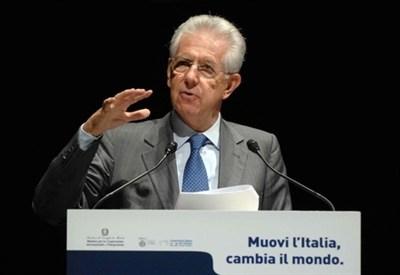 Il presidente del Consiglio Mario Monti (InfoPhoto)